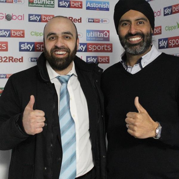 Post match Interrogation, Imran and Kam - Photo taken Pre-COVID