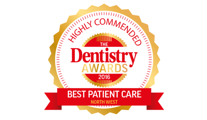 The Dentistry Awards 2016 - Highly Commended - Best Patient Care (North West)
