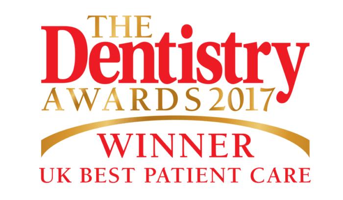 The Dentistry Awards 2017 Winner - Best UK Patient Care