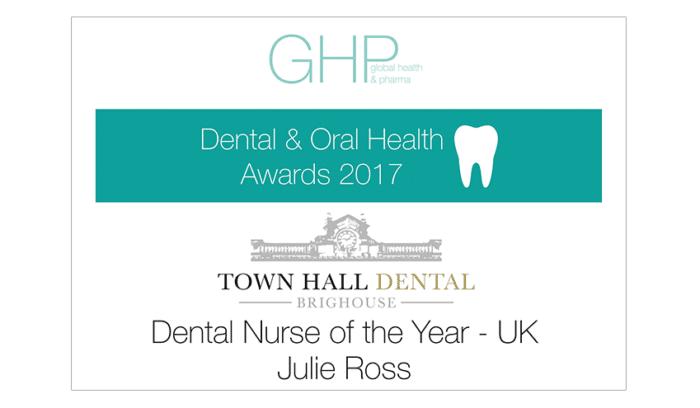 GHP Dental Oral Health Awards 2018 - Dental Nurse of the Year UK - Julie Ross