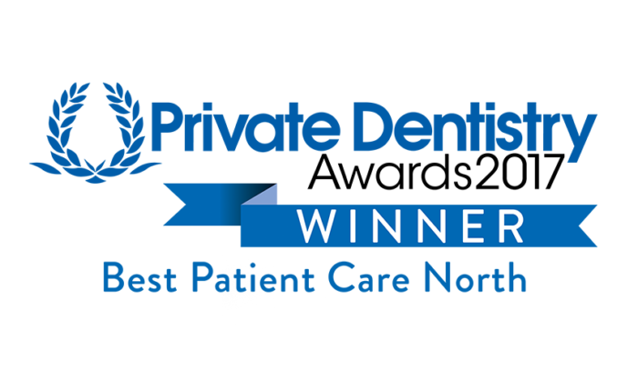 Private Dentistry Awards 2017 - Winner - Best Patient Care North