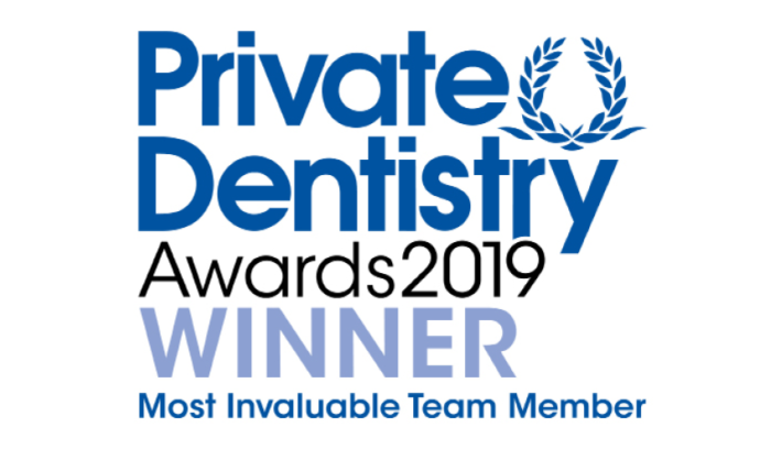 Private Dentistry Awards 2019 Winner - Most Invaluable Team Member