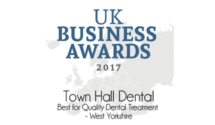UK Business Awards 2017 - Town Hall Dental, Best for Quality Dental Treatment - West Yorkshire