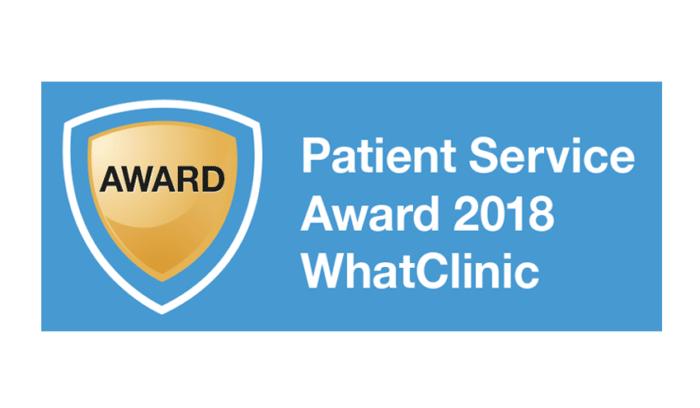 WhatClinic - Patient Service Award 2018