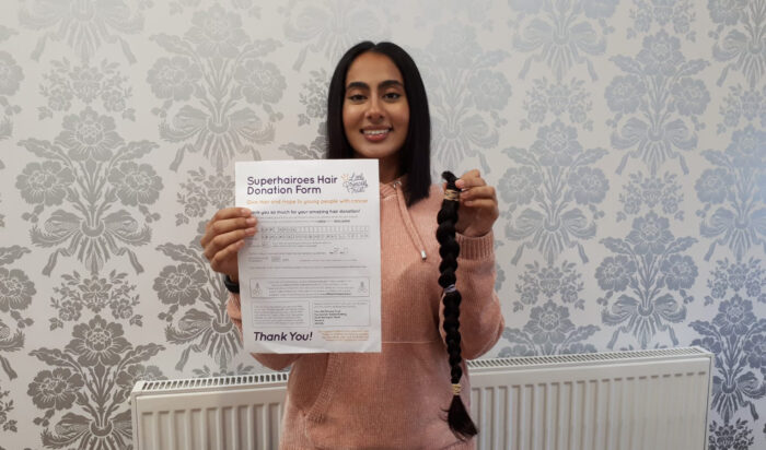 Town Hall Group's dental nurse and trustee Ram Kaur cut her long hair as part of a fundraiser for the Town Hall Foundation